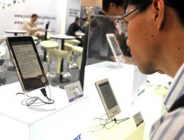 Sharp plans to sell two types of e-readers by the end of the year in Japan