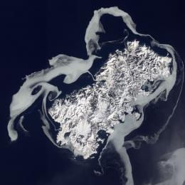 Ghostly, Ethereal Island as seen from space