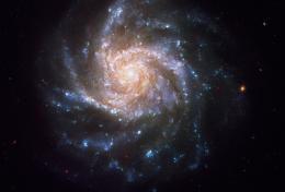 Snowflake-Shaped Galaxy From Hubble Helps Ring in the New Year