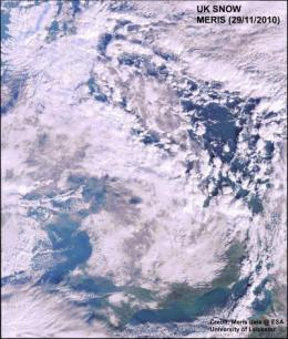 Snow from space: University of Leicester releases satellite images of snow-bound UK