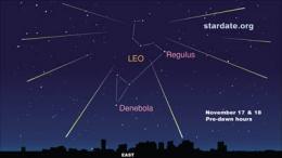 StarDate predicts Leonid meteor shower peak