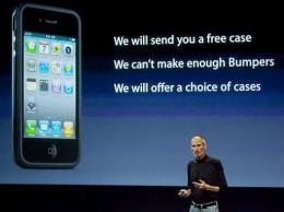 Steve Jobs, CEO of Apple Computer Inc., speaks during a press conference regarding the Apple iPhone 4 reception problems