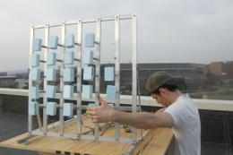 Students harness vibrations from wind for electricity