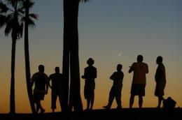 Sunset, pictured here on Venice Beach in Los Angeles