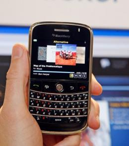 The Blackberry is currently the most popular smartphone among professionals