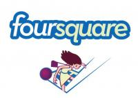 The logo of the popular tech startup Foursquare