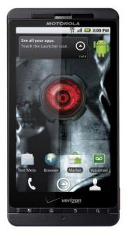 This image courtesy of Verizon Wireless shows the DROID X