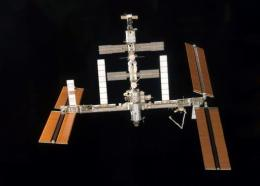 This photo obtained from NASA shows a view of the International Space Station