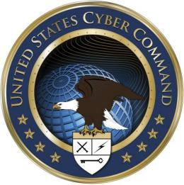 This US Department of Defense (DoD) image shows the logo for the The US Cyber Command