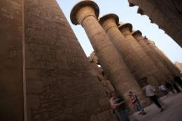 Tourists visit the Karnak temple in Luxor