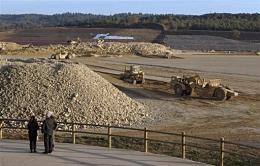 Tractors working on the future ITER site in Cadarache, southern France, in 2008