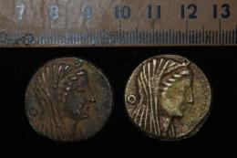 Two coins dating back to the era of Ptolemy III