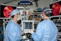 UA surgeons remove brain tumors through nose