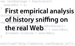 Web Surfing History Accessible via JavaScript