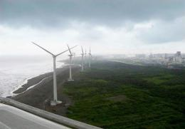 Wind power currently supplies 20 percent of the energy needs in Taiwan's Penghu, an archipelago near the China mainland